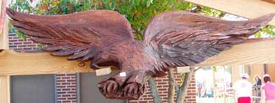 Walnut Eagle Wall Hanging